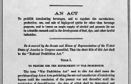 The Volstead Act – Formalising the Noble Experiment