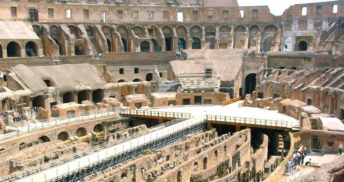 Restoration Project Finds Red Numbers in The Colosseum