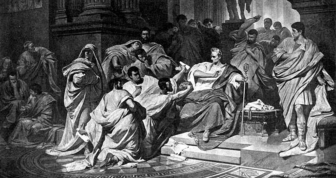 an examination of the assassination of julius caesar in 44 bc How ancient rome killed democracy following the assassination of julius caesar in 44 bc detail and examination of places where fact and.