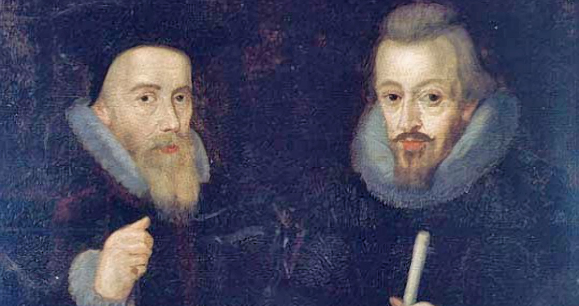 William Cecil, 1st Baron Burghley and Lord Treasurer with his son Robert Cecil, later 1st Earl of Salisbury