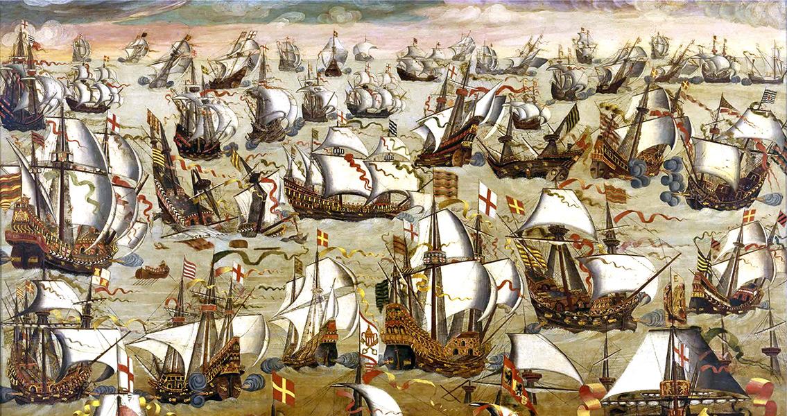 Spanish Armada Sets Sail From Corunna