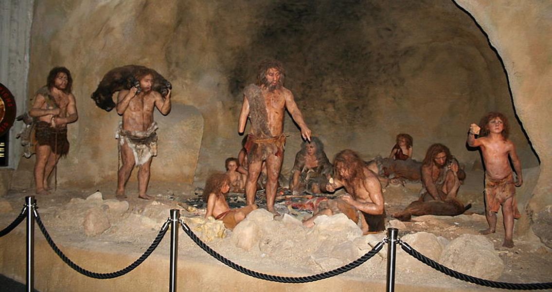Display from the Neanderthal Museum in Krapina, Croatia