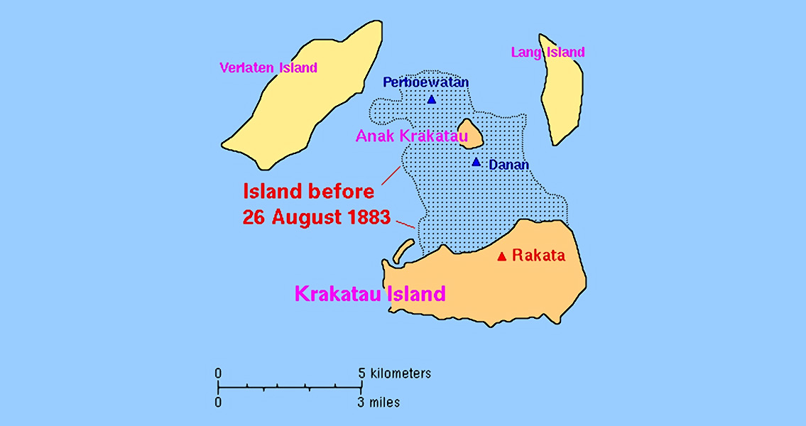 Krakatoa Eruption Starts