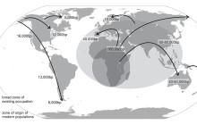 Did Our Dark Side Push Late Pleistocene Dispersal?