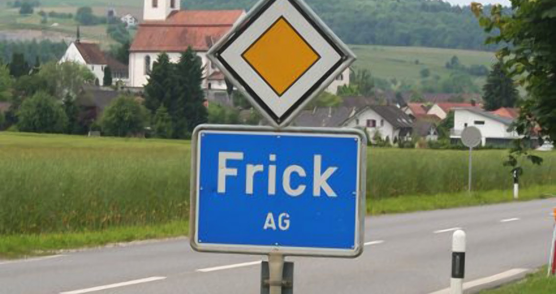 The village of Frick, where the coins were discovered