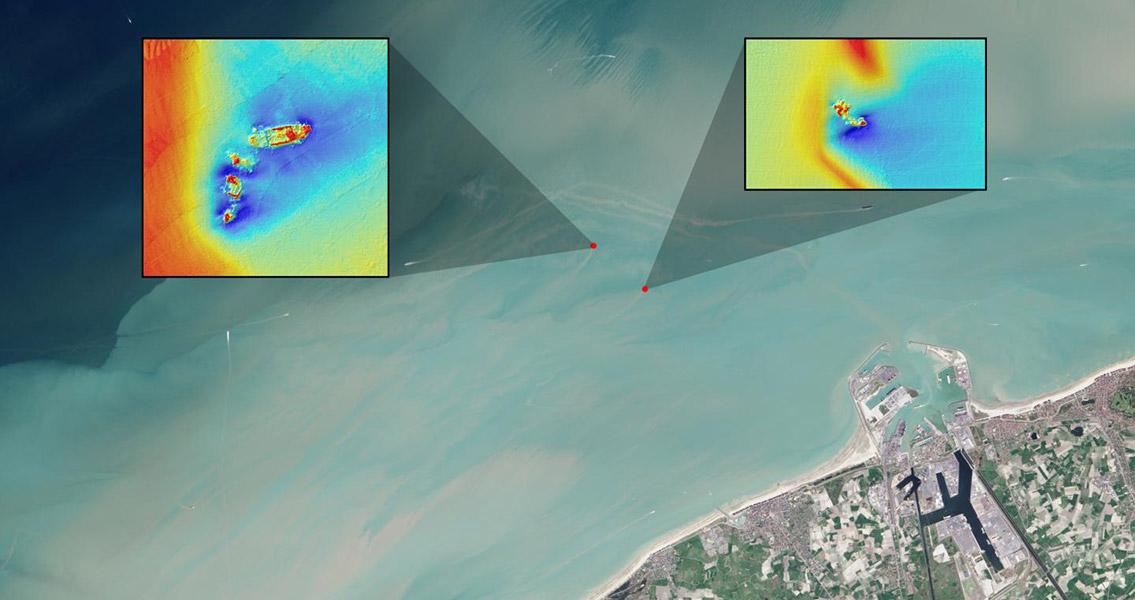 Shipwrecks Seen by Landsat Satellites