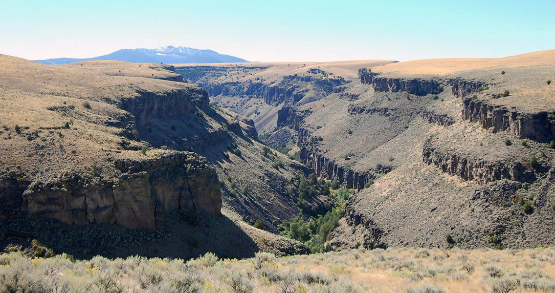 scenic canyon in Idaho