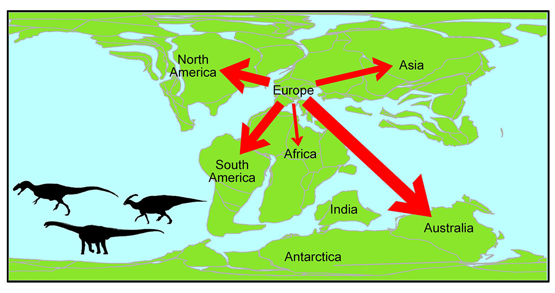Dinosaur Movement Research Reveals European Exodus
