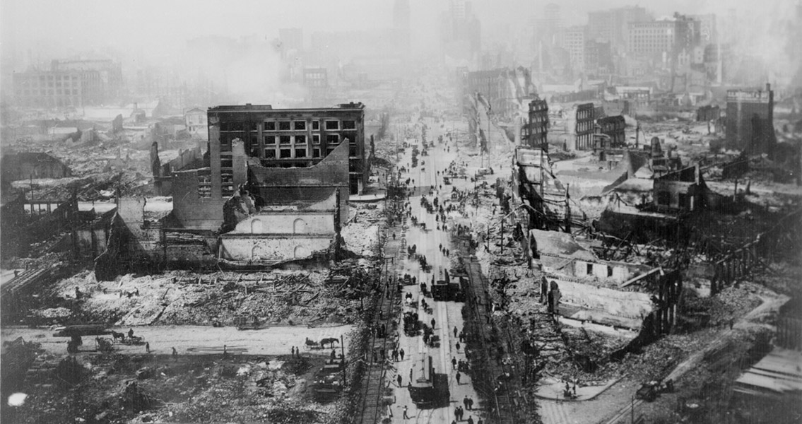 1906 San Francisco Earthquake Leaves Half the City Homeless