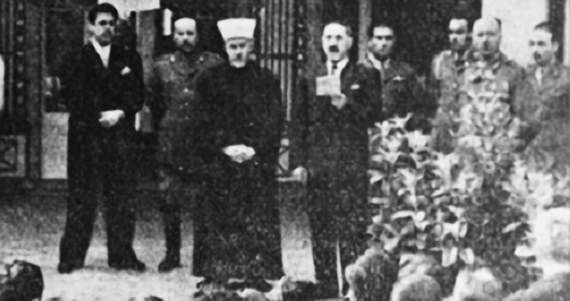 al-Gaylani and Hsseini at the anniversary of the 1941 Iraqi coup