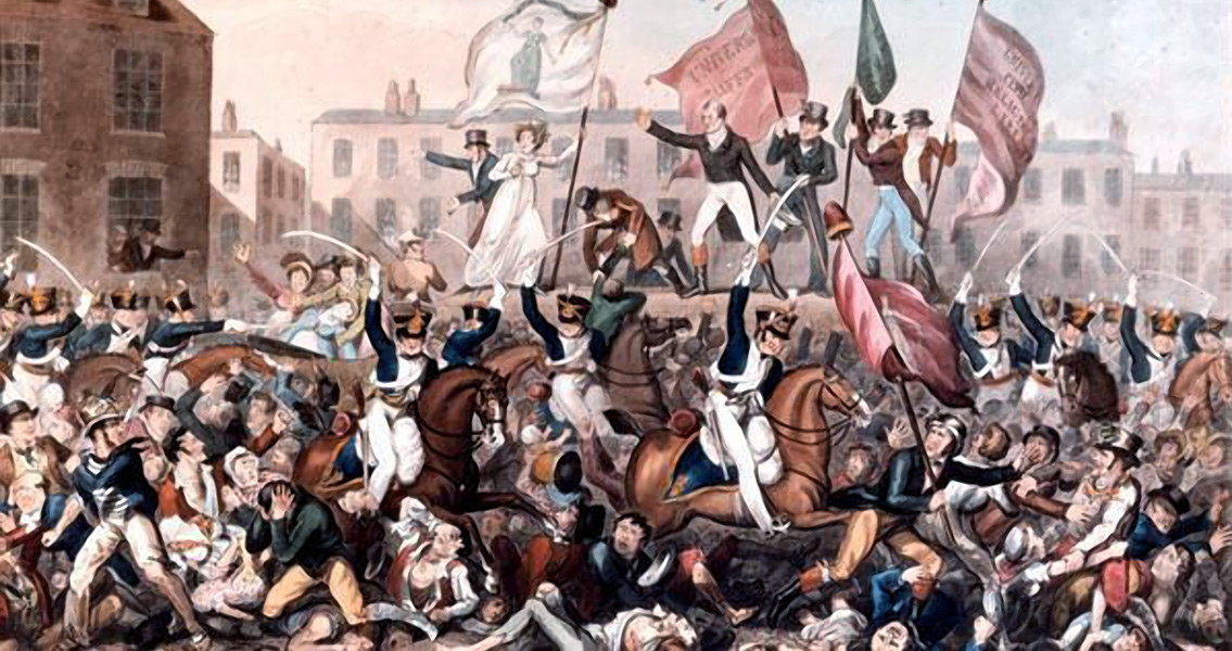 Soldiers Massacre Peaceful Protesters at Peterloo
