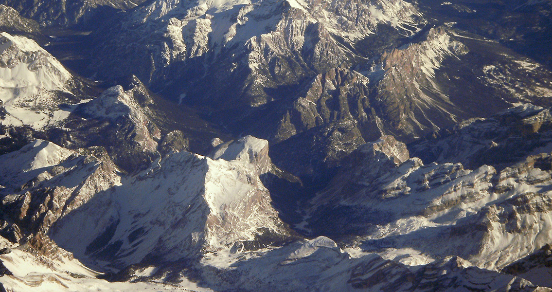 Aerial Photograph of the Dolomites (2)