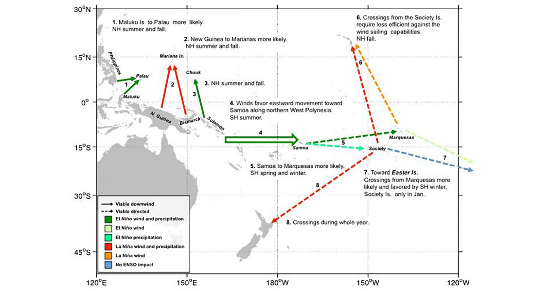 El Nino Likely Helped Ancient Seafarers Colonise Remote Oceania