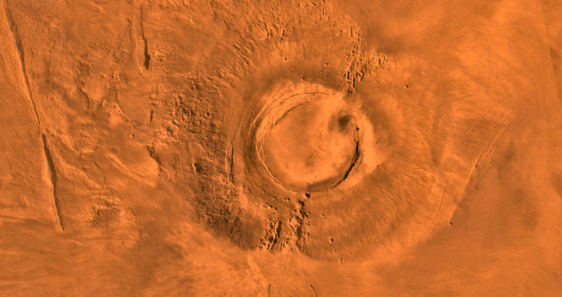 Massive Mars Volcano Last Active During Dinosaur Die-Off