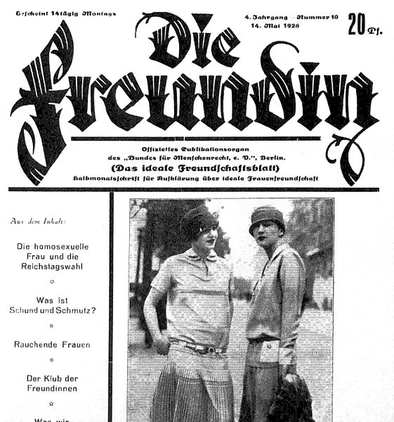 Nazi Germany and its curious treatment of lesbians