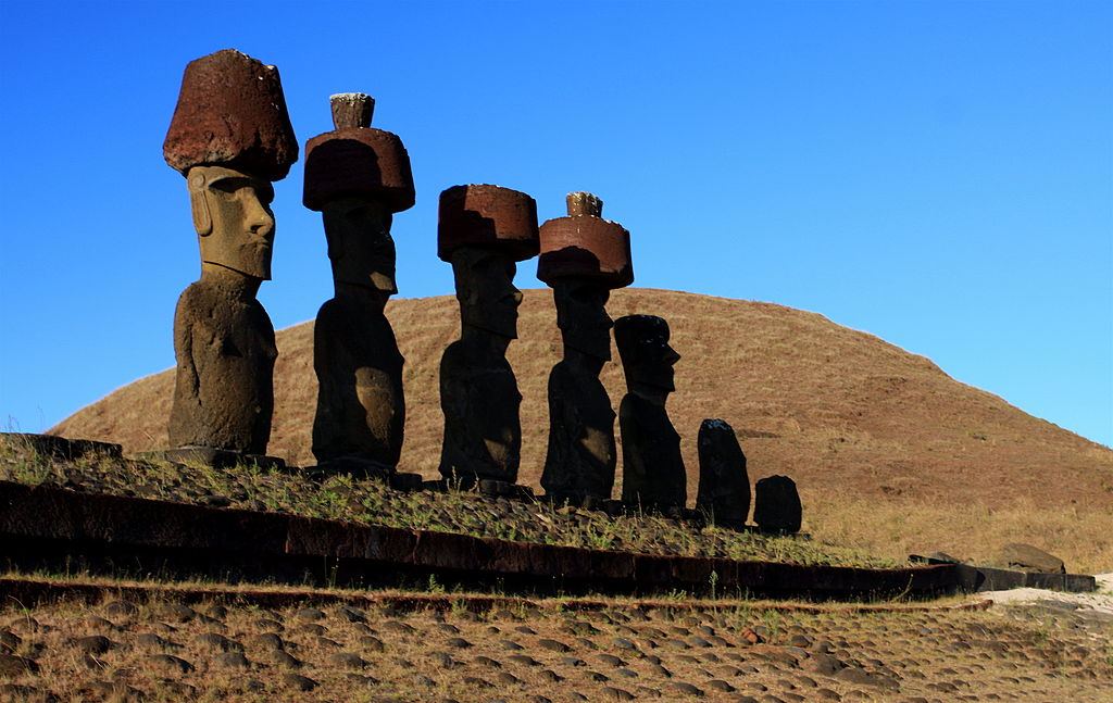 Only 15 people required to lift 12-ton hats onto Easter Island statues, research shows