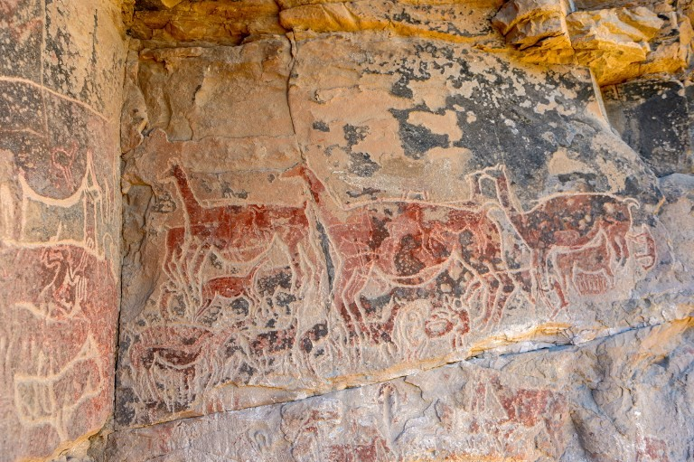 What is Taira rock art, and what does it tell us about ancient desert culture in Chile?